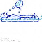 schwimmende Luftmatraze